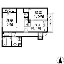 メゾンド・和[106号室号室]の間取り