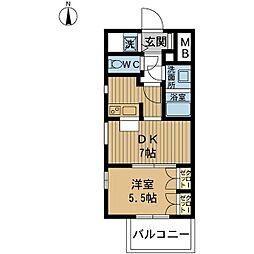 センターヒル御幣島[5階]の間取り
