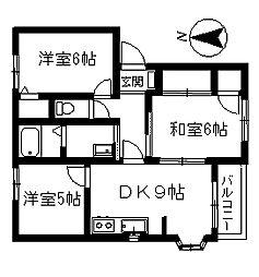 スカイライトハイム[1階]の間取り