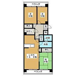 のむら貝塚ガーデンシティ弐番館[5階]の間取り