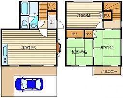 [テラスハウス] 東京都西東京市北町5丁目 の賃貸【東京都 / 西東京市】の間取り