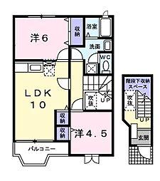 シャトー米倉[2階]の間取り