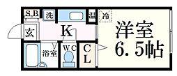 JR播但線 野里駅 バス6分 平野西口下車 徒歩1分の賃貸アパート 1階1Kの間取り