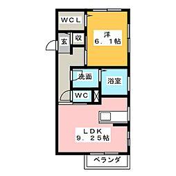 グレイス見川B[2階]の間取り