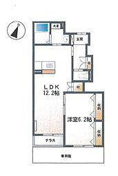 神奈川県相模原市緑区向原3丁目の賃貸アパートの間取り