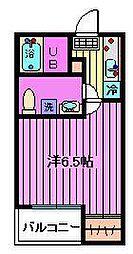 フェリオ与野[201号室]の間取り