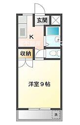 広島県福山市南松永町2の賃貸マンションの間取り
