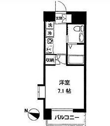 アース湘南台[7階]の間取り