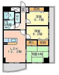 第壱上野マンション[7階]の間取り