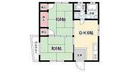 大阪府豊中市上新田2丁目の賃貸マンションの間取り