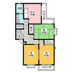 レジデンス大高台[1階]の間取り