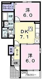 ミニヨンハウスSAYAII A・B[1階]の間取り