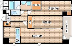 兵庫県神戸市中央区相生町1丁目の賃貸マンションの間取り