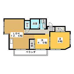 ミノリマンション[1階]の間取り