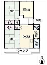 メープルタウンSAKANO[1階]の間取り
