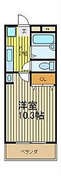 アーケティックマンションV[1階]の間取り