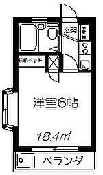 ホワイトハイツ(吉田)[2階]の間取り