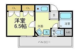 KIKUZONEみなづき[4階]の間取り