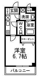 モアナコート[4階]の間取り