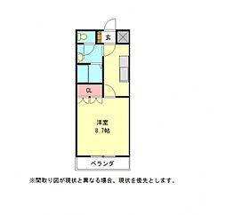 愛知県一宮市三条字芦山の賃貸アパートの間取り
