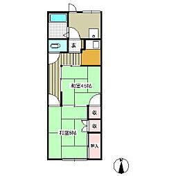 水明荘[2階]の間取り