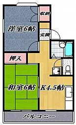 プレジール石坂[105号室号室]の間取り