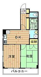 神奈川県川崎市幸区南加瀬1丁目の賃貸マンションの間取り