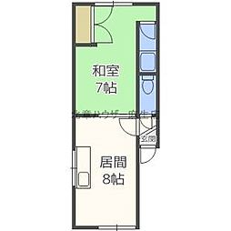 林コーポ[2階]の間取り