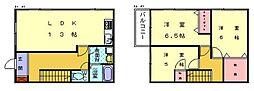 [テラスハウス] 福岡県古賀市今の庄1丁目 の賃貸【福岡県 / 古賀市】の間取り