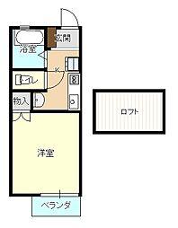 島根県松江市西津田3丁目の賃貸アパートの間取り