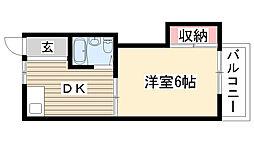 愛知県長久手市久保山の賃貸アパートの間取り