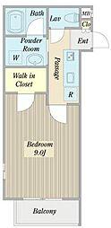 名古屋市営鶴舞線 平針駅 徒歩6分の賃貸アパート 1階1Kの間取り