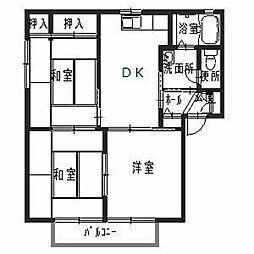 ディアス鵤[2階]の間取り