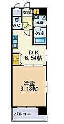ビュー博多[6階]の間取り
