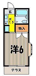 エルミエンド朝霞台[1階]の間取り
