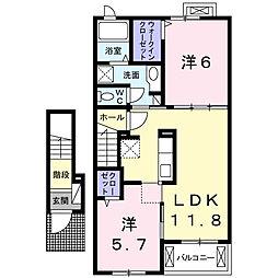 クレスト・ココ A[2階]の間取り