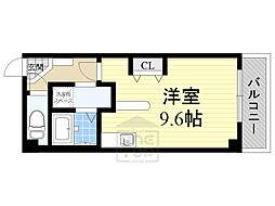 Osaka Metro谷町線 千林大宮駅 徒歩14分の賃貸マンション 3階ワンルームの間取り