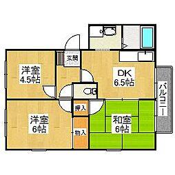 大阪府堺市東区菩提町1丁の賃貸アパートの間取り