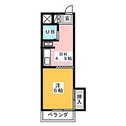 エクセル東和[7階]の間取り