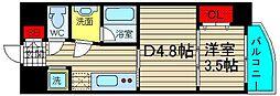 N77NAMBA[2階]の間取り