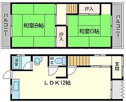 [一戸建] 大阪府大阪市淀川区十八条1丁目 の賃貸【/】の間取り