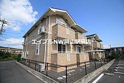 岡山県岡山市中区倉富丁目なしの賃貸アパートの外観