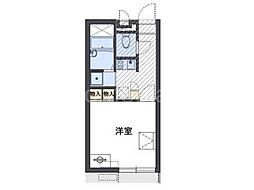 JR片町線(学研都市線) 忍ヶ丘駅 徒歩5分の賃貸アパート 1階1Kの間取り