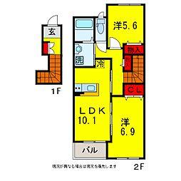 市原市青柳新築アパート[2階]の間取り