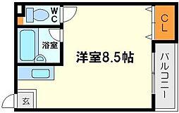 パインハイツ新大阪[4階]の間取り