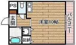 シャトーボヌゥール今城[105号室]の間取り