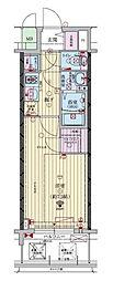 ファーストフィオーレ福島野田II 5階1Kの間取り
