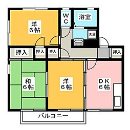 グリーンハイツ土井山A棟[1階]の間取り