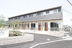 岡山県赤磐市河本の賃貸アパートの外観