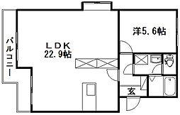 マンションアカンサスI[108号室]の間取り